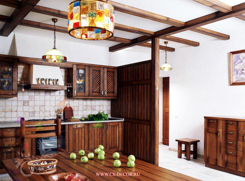 потолки для деревенского дома фото менее